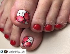 Cute for the girls Pretty Toe Nails, Cute Toe Nails, Cute Nail Art, Pedicure Designs, Pedicure Nail Art, Toe Nail Designs, Feet Nail Design, Painted Toe Nails, Summer Toe Nails
