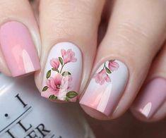 Fancy Nails, Cute Nails, My Nails, Fancy Nail Art, Pink Nail Art, Cute Acrylic Nails, Nail Art Toes, Floral Nail Art, Nagel Bling