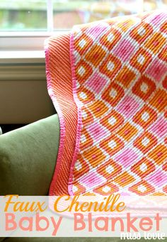 Miss Lovie: Faux Chenille Baby Blanket Tutorial