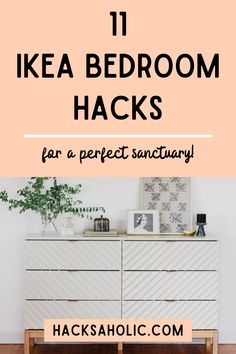 Take your bedroom to the next level without spending too much with these Ikea bedroom hacks. We've found the best Ikea bedroom hacks. #ikeabedroomhacks #ikeahack #bedroomhacks Ikea Malm Bed, Ikea Vittsjo, Ikea Bed Hack, Ikea Raskog, Ikea Furniture Hacks, Bedroom Hacks, Ikea Bedroom, Ikea Picture Frame