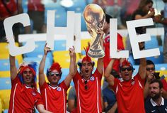 Chile fans showed great support for their team.