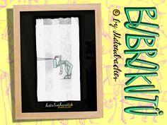 """Butterbrotkunsttüte """"sprayer""""- gerahmt! von Die Bubrokutü auf DaWanda.com"""