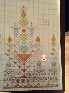 This Pin was discovered by Nur Cross Stitch Boarders, Dmc Cross Stitch, Cross Stitch Flowers, Cross Stitch Designs, Cross Stitching, Cross Stitch Patterns, Folk Embroidery, Cross Stitch Embroidery, Embroidery Patterns
