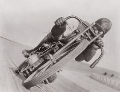 Otto Walker Harley Davidson rider and Board Track Legend