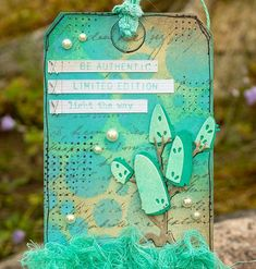 Hello friends! Today I have a tag to share using Tim Holtz new Salvaged Patina distress color . It has been out for a while, but I only got ...