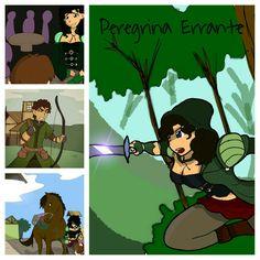 Ilustração  de conto - Peregrina Errante