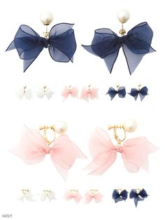 [Organza Ribbon x choose Pearl Earring or earrings | MR | CSGL] dream vision ◆ outstanding stock