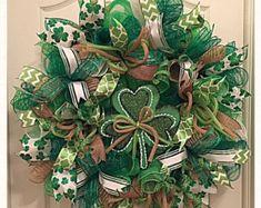 St Patrick's Day Burlap Irish Blessings Deco by CKDazzlingDesign