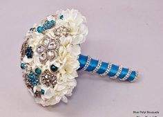 Crystal Hydrangea by Blue Petyl Bouquets #bridal #bouquet