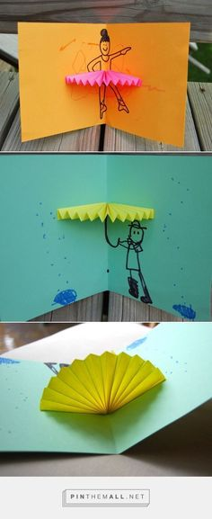 ikat bag: Pop-up Cards – … – – Origami Birthday Card Pop Up, Diy Birthday, Fun Crafts, Diy And Crafts, Paper Crafts, Diy For Kids, Crafts For Kids, Pop Up Art, Creative Cards