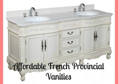 Versailles Bathroom Vanity Carrara Antique White Includes Style Cabinet With Soft Close Drawers Marble Countertop And Two Ceramic Sinks