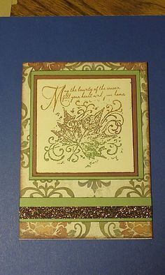 Huntington Paper Pack and A1130 Quick Cards- Bountiful Season sentiment from Close To My Heart - created by Michelle West