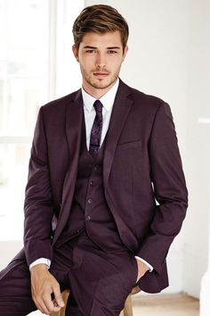 Costume 3 pièces couleur prune #style #menstyle #style #dandy #chic #plum #suit…