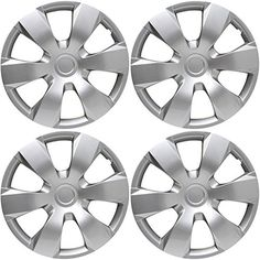"""Hubcaps for Toyota Camry 2007-2011 Set of 4 Pack 16"""" Inch Silver , OEM Genuine Factory 42602-06010 Replacement - Easy Snap On - Aftermarket Wheel Covers - http://automotive.wegetmore.com/hubcaps-for-toyota-camry-2007-2011-set-of-4-pack-16-inch-silver-oem-genuine-factory-42602-06010-replacement-easy-snap-on-aftermarket-wheel-covers/"""