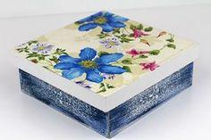 9 Técnicas de Caixas em MDF decoradas - como fazer passo a passo Do It Yourself Projects, Make It Yourself, Decoupage Box, Altered Boxes, Diy Box, Decoration, Painted Furniture, Stencils, Diy And Crafts