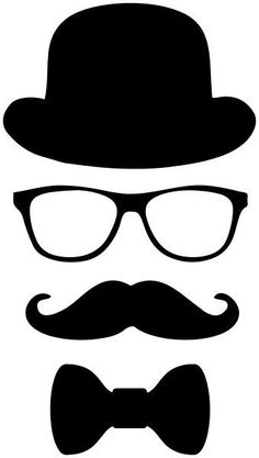 'Little Man Hipster Mustache Disguise Design' Sticker by partypeepsfun Mustache Birthday, Mustache Party, Fathers Day Crafts, Happy Fathers Day, Mustache Template, Boss Baby, Dad Day, Photo Booth Props, Little Man