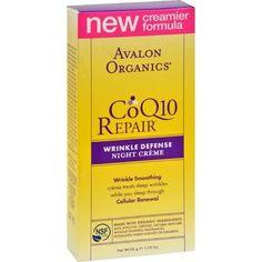 Avalon Organics Coq10 Wrinkle Defense Night Creme - 1.75 Fl Oz - 0734640