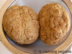 Seitán casero (a partir del gluten) | La Cazuela Vegana Sin Gluten, Vegan Gluten Free, Veggie Recipes, Banana Bread, Recipies, Veggies, Cookies, Meat, Desserts