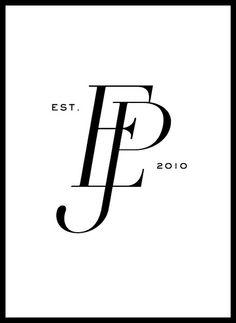 Emilia Jane Photography modern monogram by Jen Olmstead of Deleted Space… Typography Love, Hand Lettering Fonts, Monogram Fonts, Logo Fleur, Dj Logo, Web Design Projects, Wedding Logos, Photography Branding, Creative Logo