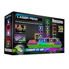 Laser Pegs Education Series Lighted Construction Toy, Multicolor