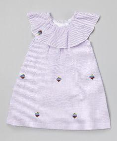 Look at this Lavender Stripe Ice Cream Yoke Dress - Infant