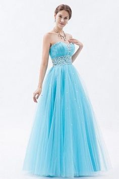 Blue A-Line High Neck Homecoming Gown ted1320