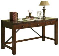Riverside Furniture Castlewood Writing Desk in Warm Tobacco - transitional - desks - by Cymax