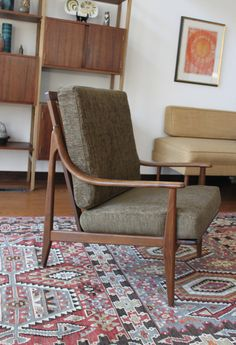 Mid Century Modern Chair in the Style of Peter by athomemodern, $475.00
