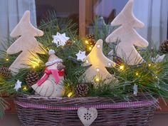 vánoční truhlík - keramika od Hlinenky