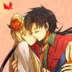 Sailor Moon - Seiya Kou x Usagi Tsukino - SeiUsa Sailor Moon Stars, Arte Sailor Moon, Sailor Moon Manga, Sailor Uranus, Sailor Moon Crystal, Sailor Mars, Stars And Moon, Sailor Mercury, Anime Villians
