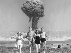 Don't you just hate it when your trip to the beach is interrupted by a random nuclear explosion!?