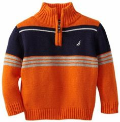 Nautica boys zip through turtleneck sweater. Toddler Boy Outfits, Baby Kids Clothes, Kids Outfits, Boys Knitting Patterns Free, Knitting For Kids, Next Clothing Kids, Turtleneck Style, Toddler Sweater, Boys Sweaters