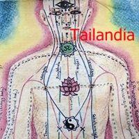 Líneas sen en el masaje tailandés. Hay también dibujos que corresponden a las tres fuentes mas antiguas del masaje tai.