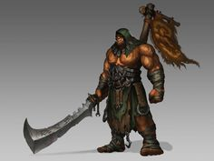 World of Warcraft - Orc Blademaster from the Burning Blade Clan, Cosmin Ţîrlea Orc Warrior, Fantasy Warrior, Fantasy Rpg, Fantasy Character Design, Character Concept, Character Inspiration, Character Art, Concept Art, World Of Warcraft Orc