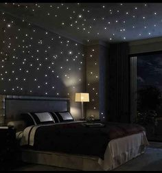 A Starry Night Bedroom