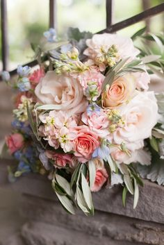 pastel bouquet: Simple Summer Farm Wedding at Historic Cedarwood | Historic Cedarwood | All Inclusive Designer Weddings
