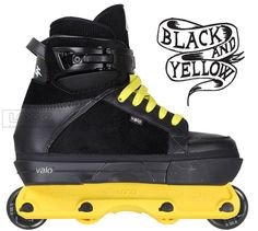 """Valo AB.VX """"Black and Yellow Remix"""" Complete Skate from Loco Skates"""