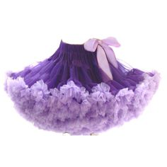 Women Bubble Tutu Petticoat Purple