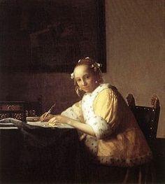 Johannes Vermeer - A Lady Writing - 1665-1666