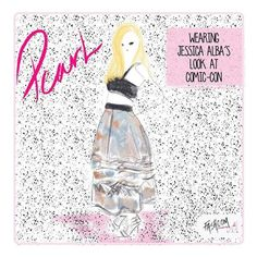 """So nice of @jessicamalba  to let Pearl wear her clothes!  #fashion #fashcom #illustration #fashioncomic #comic #draw #drawing #dress #shoes #magic #glitter…"""