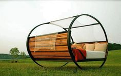 3rings - sustainable rocking bed, upcycled furniture.