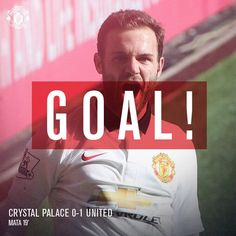 Goal! Crystal Palace 0 United 1 (19'). Yes! Juan Mata scores from the spot.