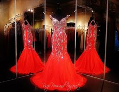 Red Formfitting Mermaid Prom or Pageant Dress-Cap Sleeves-Sweetheart Neckline-115EC0712400640 at Rsvp Prom and Pageant, Atlanta, GA