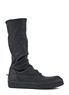 RICK OWENS Men'S Leather Sock Sneakers In Black. #rickowens #shoes #