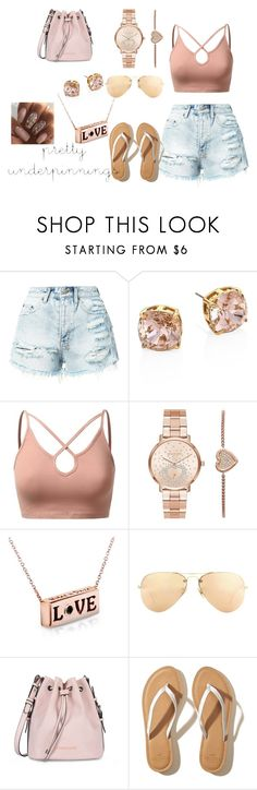 """#Pretty"" by bowkam on Polyvore featuring Ksubi, Tory Burch, J.TOMSON, Michael Kors, Ray-Ban, Armani Jeans and Hollister Co."