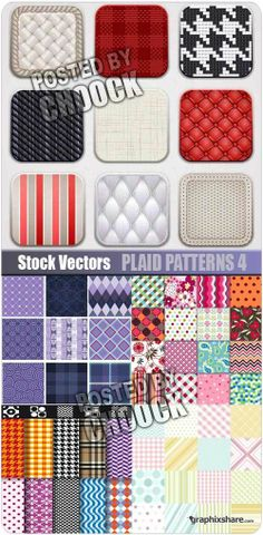 Plaid patterns 4 - Stock Vector