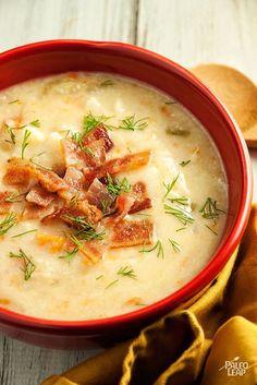 Cauliflower Chowder #dairyfree #paleo #cauliflower #chowder #soup #healthy