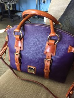 3 Monkeys throwing around some....PAPER!!!: Dooney and Bourke Pebbled Leather Domed Satchel Re...