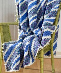 Crochet Corner-to-Corner Throw Free Pattern from Red Heart Yarns
