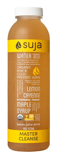 LEMON, CAYENNE, MAPLE SYRUP  Maple syrup is rich in minerals necessary for metabolizing protein and fat, bone health, and muscle function. Lemon and cayenne help alkalize the body, boost metabolism, and increase circulation. This blend follows the original Master Cleanse recipe.
